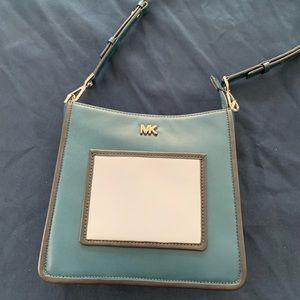 Michael Kors Blue Leather Crossbody